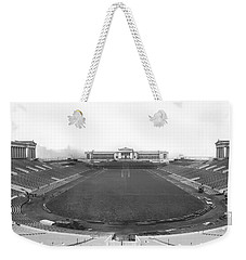 Soldier Field In Chicago Weekender Tote Bag by Underwood Archives