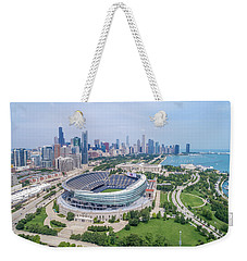 Weekender Tote Bag featuring the photograph Soldier Field by Sebastian Musial