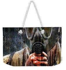 Soldier In World War 2 Gas Mask Weekender Tote Bag