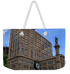 Soldiers Monument In Penn Square In Lancaster Weekender Tote Bag
