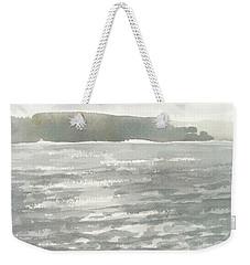Soldis Over Glittrande Fjord - Sunlit Haze Over Glittering Water_0023 76x48cm Weekender Tote Bag