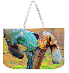 Weekender Tote Bag featuring the photograph Sole Mates by Joe Jake Pratt
