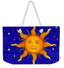 Weekender Tote Bag featuring the painting Soleil by Sandra Estes