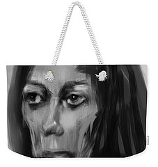 Weekender Tote Bag featuring the painting Solemn by Jim Vance