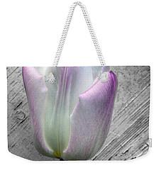 Solitary Pink Whisper Tulip Weekender Tote Bag