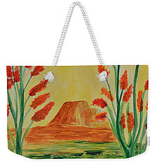 Weekender Tote Bag featuring the photograph Solitary Sunset by Maria Urso