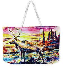 Solitude Caribou Weekender Tote Bag