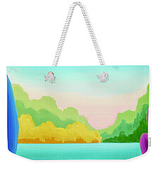 Weekender Tote Bag featuring the painting Solitude by Irene Hurdle