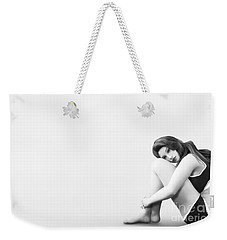 Weekender Tote Bag featuring the digital art Solitude by Methune Hively