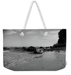Solitude On The Beach As Day Ends Weekender Tote Bag