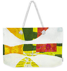 Weekender Tote Bag featuring the mixed media Solstice by Elena Nosyreva