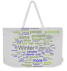 Solstice Greeting Nondenominational Weekender Tote Bag
