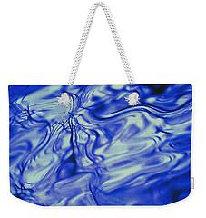 Solvent Blue Weekender Tote Bag