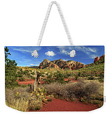 Weekender Tote Bag featuring the photograph Some Cactus In Sedona by James Eddy