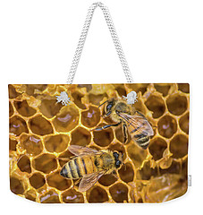 Weekender Tote Bag featuring the photograph Some Of Your Beeswax by Bill Pevlor