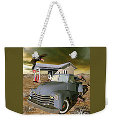 Weekender Tote Bag featuring the digital art Some Things Just Refuse To Die by Peter J Sucy