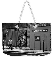 Somebody's Watching Me In Black And White Weekender Tote Bag