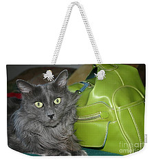Someone Say Green? Weekender Tote Bag by Marie Neder