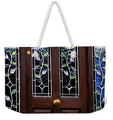 Weekender Tote Bag featuring the photograph Someone's At The Door by Patricia Griffin Brett