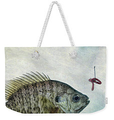 Weekender Tote Bag featuring the photograph Something Fishy by Mark Fuller