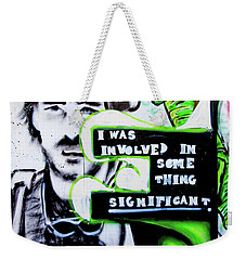 Weekender Tote Bag featuring the photograph Something Significant by Art Block Collections