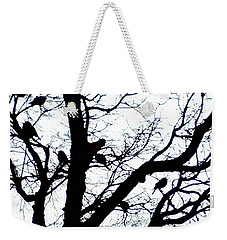 Weekender Tote Bag featuring the photograph Something To Crow About by Sadie Reneau