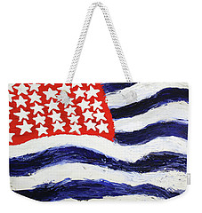 Weekender Tote Bag featuring the painting Something's Wrong With America by Thomas Blood