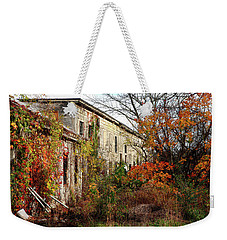 Somewhere In Rhode Island - Abandoned Mill 001 Weekender Tote Bag
