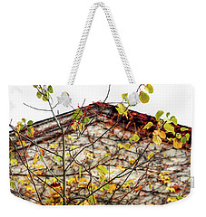 Weekender Tote Bag featuring the photograph Somewhere In Rhode Island - Abandoned Mill 003 by Lon Casler Bixby