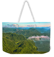 Weekender Tote Bag featuring the photograph Over Alaska - June  by Madeline Ellis