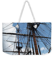 Son Of A Son Of A Sailor Quote - Tribute To The Bounty Weekender Tote Bag by Joan  Minchak