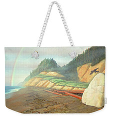 Weekender Tote Bag featuring the painting Song For My Brother by Laurie Stewart