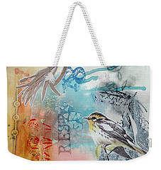 Weekender Tote Bag featuring the mixed media Song Of Life  by Rose Legge