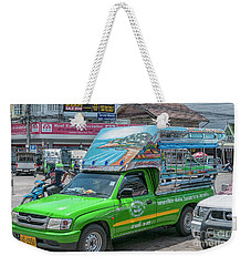 Weekender Tote Bag featuring the photograph Songthaew Minibus by Antony McAulay