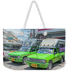 Weekender Tote Bag featuring the photograph Songthaew Taxi by Antony McAulay
