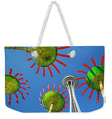 Weekender Tote Bag featuring the photograph Sonic Bloom In Seattle Center by Adam Romanowicz