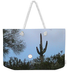 Sonoran Desert Moonset Weekender Tote Bag
