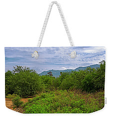 Weekender Tote Bag featuring the photograph Sonoran Greenery H30 by Mark Myhaver