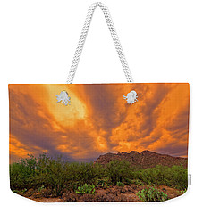 Weekender Tote Bag featuring the photograph Sonoran Sonata H16 by Mark Myhaver