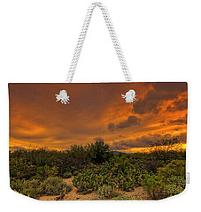 Weekender Tote Bag featuring the photograph Sonoran Sunset H4 by Mark Myhaver