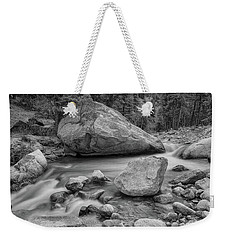 Soothing Colorado Monochrome Wilderness Weekender Tote Bag by James BO Insogna