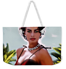 Sophia At The Beach Weekender Tote Bag