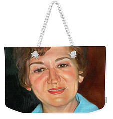 Weekender Tote Bag featuring the painting Sophie by Marlene Book
