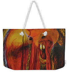 Weekender Tote Bag featuring the painting Sorcerer's Gate by Christophe Ennis