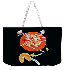 Misfortune Cookies Weekender Tote Bag by Joe Jake Pratt