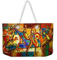 Soul Jazz Weekender Tote Bag by Leon Zernitsky