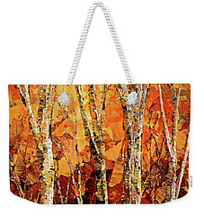 Weekender Tote Bag featuring the painting Soul Of The Earth by Tatiana Iliina