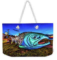 Soul Salmon During Blue Hour Weekender Tote Bag by Rob Green