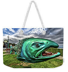 Soul Salmon In Hdr Weekender Tote Bag by Rob Green