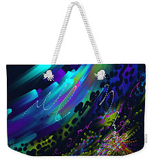 Weekender Tote Bag featuring the painting Soul So Blue by Kevin Caudill